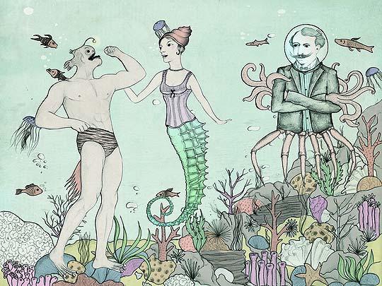 Ilustración. Submarine Jealousy de ALEJANDRA CESPEDES