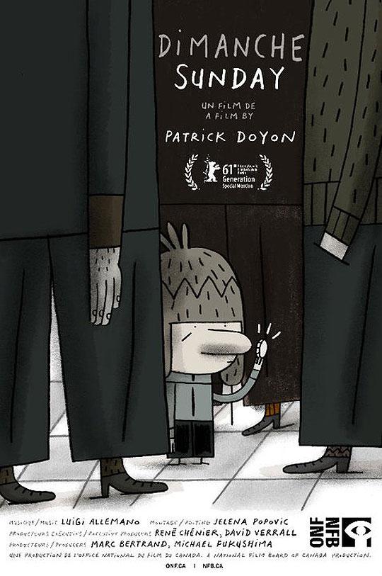 """Animación Oscar 2012. """"Dimanche/Sunday""""."""