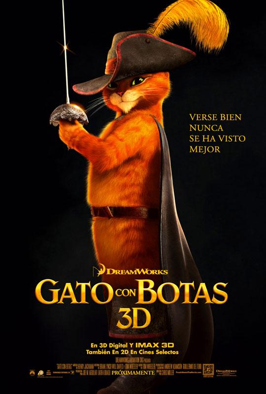 Animación nominada al Oscar 2012. El Gato con Botas.