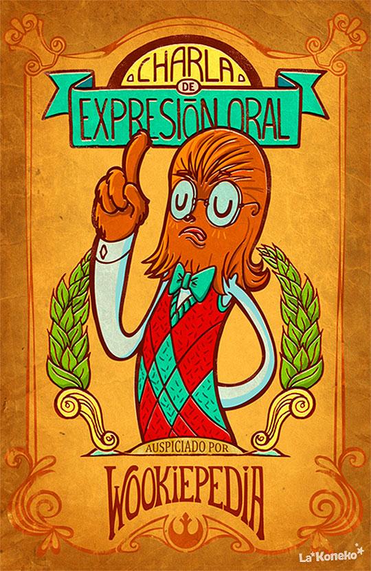 """Ilustración. Crazy Head de LEANDRA CUBA """"La Koneko""""."""