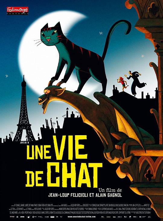 """Animación nominada al Oscar 2012. """"Un gato en Paris"""""""