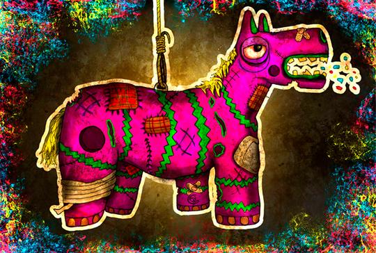 Ilustración. Piñata de BENJAMÍN PEREDO.