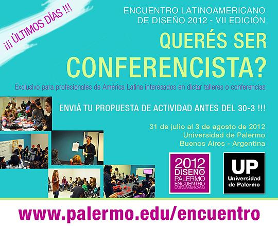 Participa como conferencista en el Encuentro Latinoamericano de Diseño.