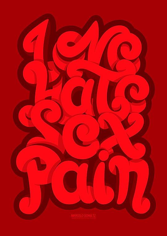 Diseño y Tipografía impresionantes de  MARCELO SCHULTZ.