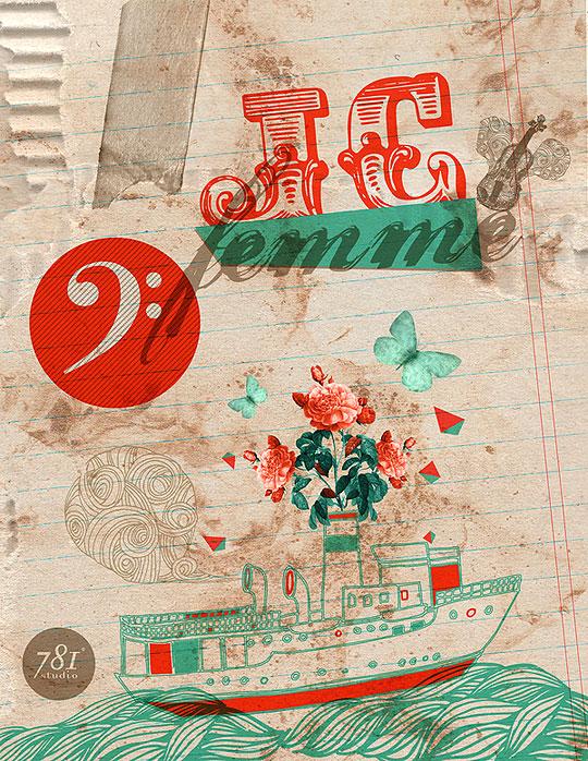 Ilustración, diseño y tipografía. Comienzo de FRANCISCO HERNÁNDEZ.