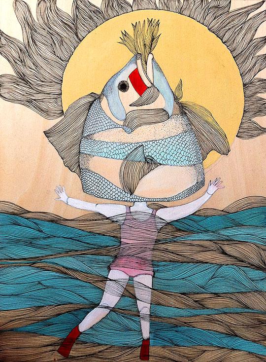 Ilustración. Como pez en el agua y más de ALEXANDRA ARANGO.