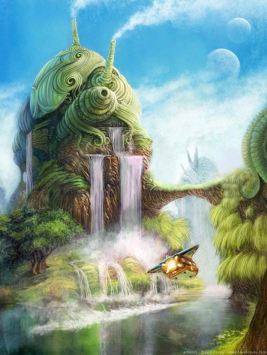 Ilustración y concept art de DAVID REVOY.