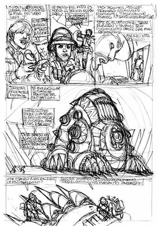Comic y dibujo clásico de JUAN GIMÉNEZ.