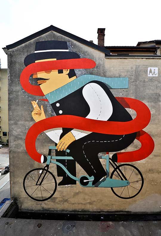 Arte urbano. Muros ilustrados con AGOSTINO IACURCI