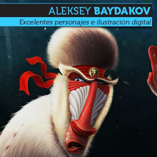 Ilustración y personajes de ALEKSEY BAYDAKOV