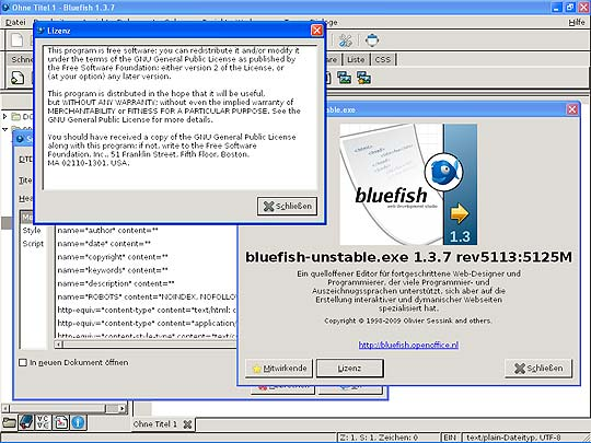 Software libre para diseñadores - Bluefish