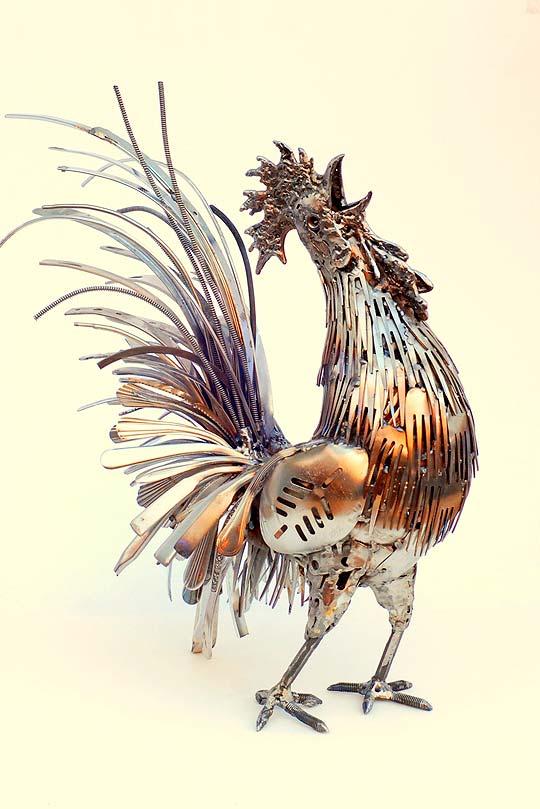 Esculturas metálicas de BRYAN MOCK.