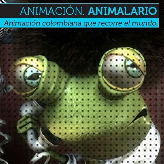 Animación colombiana. ANIMALARIO de 3da2 (3 dados)