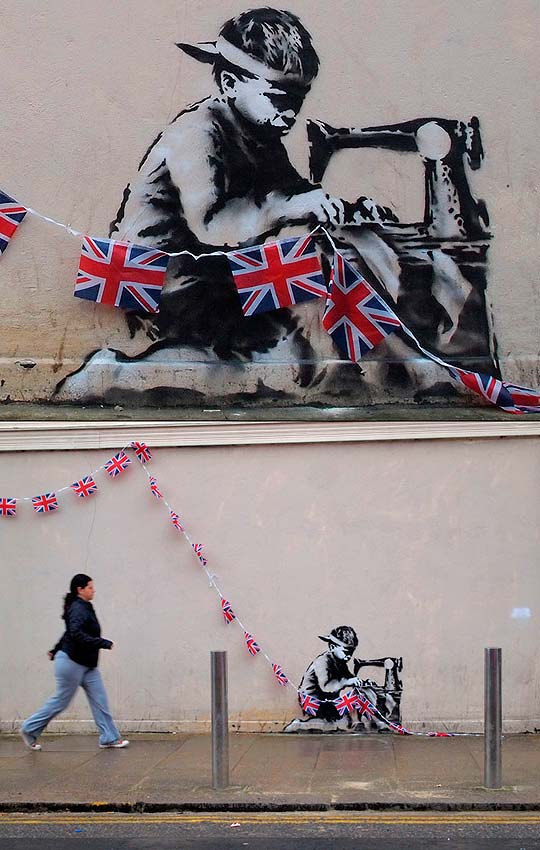 Arte urbano. Algo de lo nuevo en el website de BANKSY
