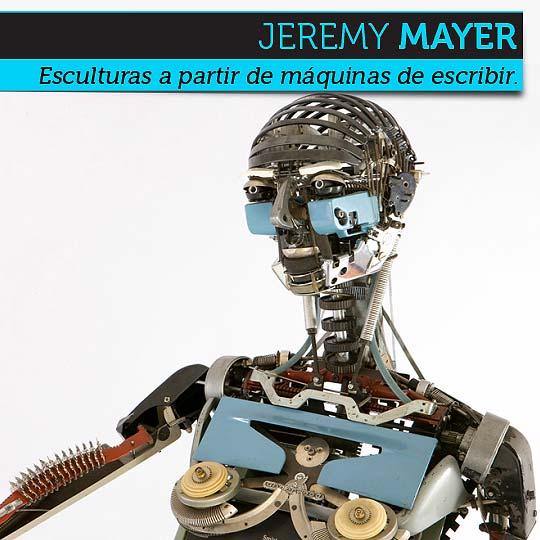 Escultura desde Máquinas de escribir por JEREMY MAYER