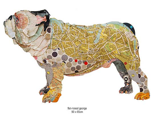 Ilustración en collage, animales de PETER CLARK
