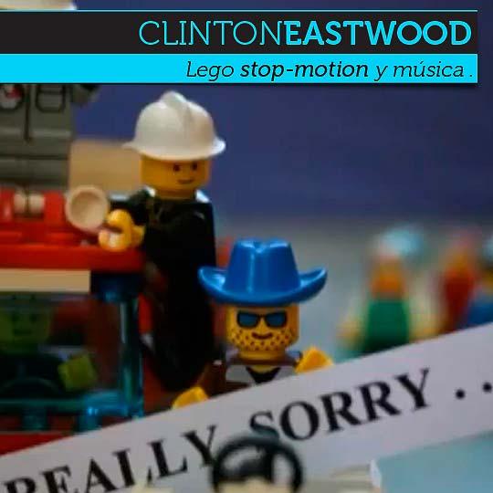 Lego stop-motion y música de CLINTONEASTWOOD