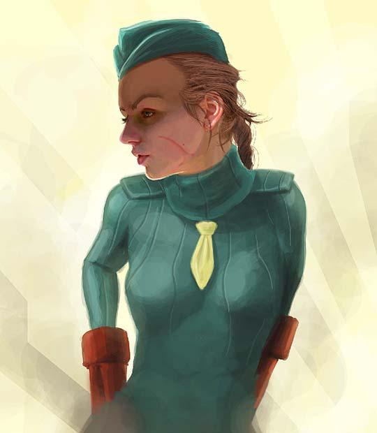 Ilustración. Bot Girl de RAFAEL AYALA aka Jehzbell.