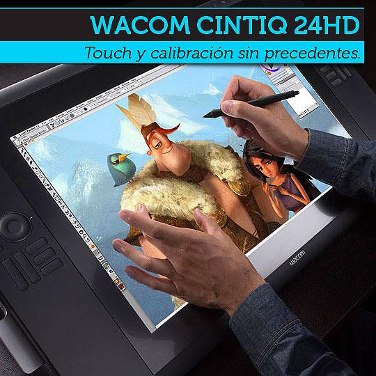 Wacom Cintiq 24HD: Touch y calibración sin precedentes.
