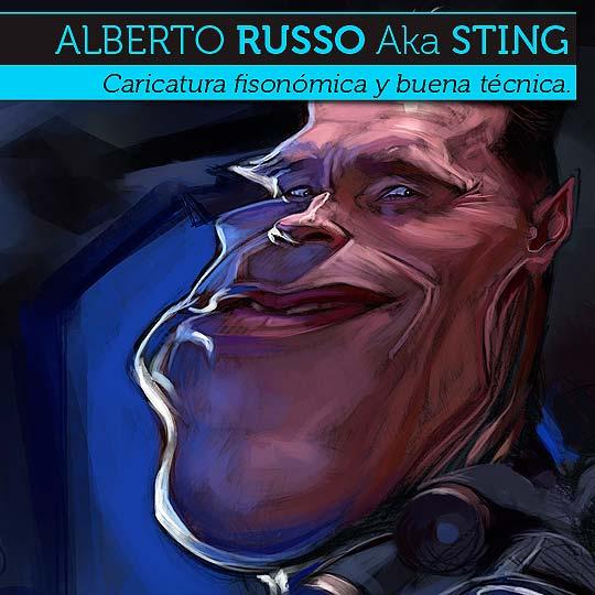 Caricatura de ALBERTO RUSSO Aka Sting