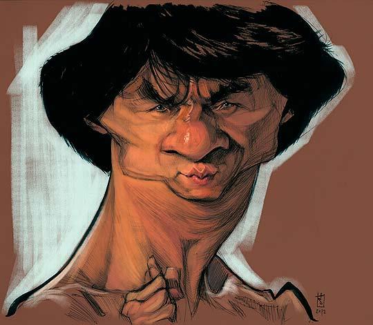 Caricatura de Jackie Chan por ALBERTO RUSSO Aka Sting