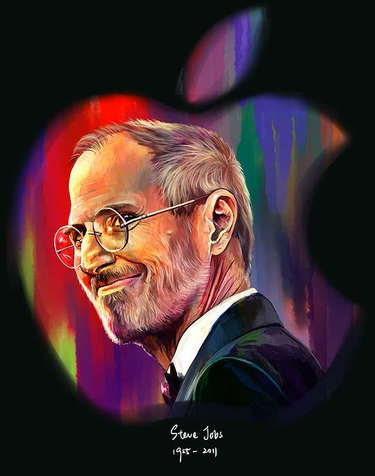 10 ilustraciones y retratos en homenaje a STEVE JOBS