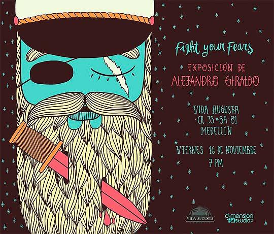 Exposición de ilustración de ALEJANDRO GIRALDO