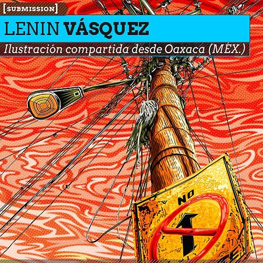 Ilustración. El Cristo de los conceptuales de LENIN VÁSQUEZ aka Dada.