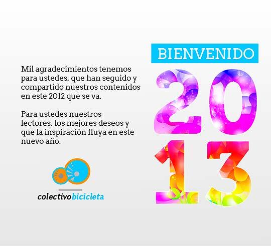 Feliz 2013 por Colectivo Bicicleta