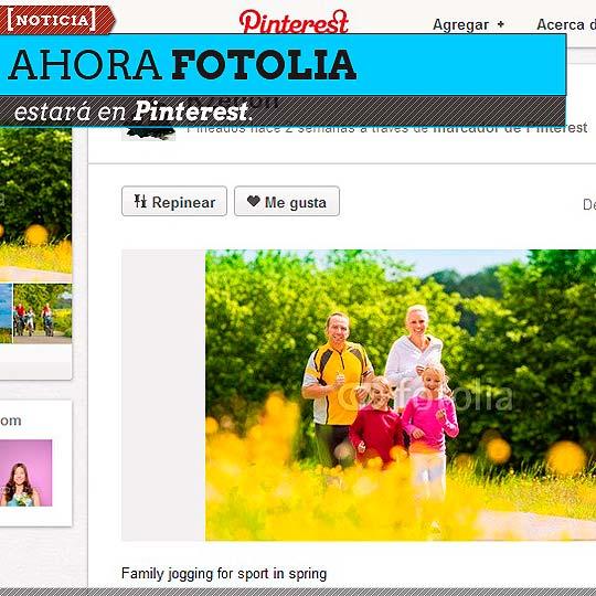Ahora Fotolia estará en Pinterest.