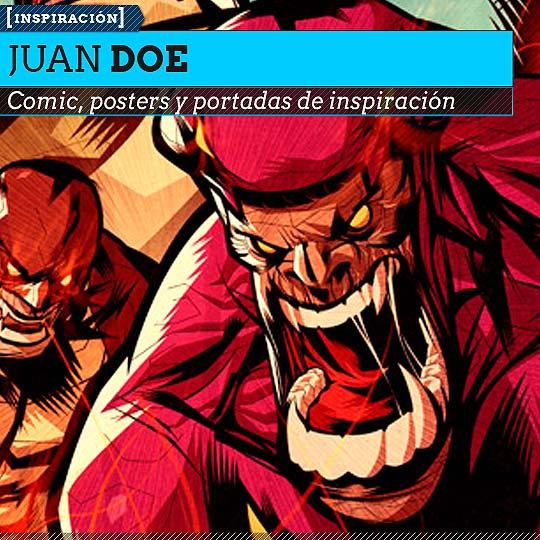 Comic. Posters, portadas y trayectoria con JUAN DOE