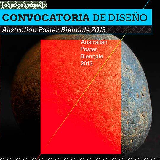 Australian Poster Biennale 2013.