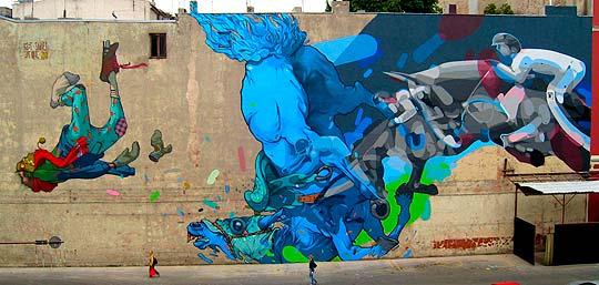 Arte urbano de ETAM CRU.