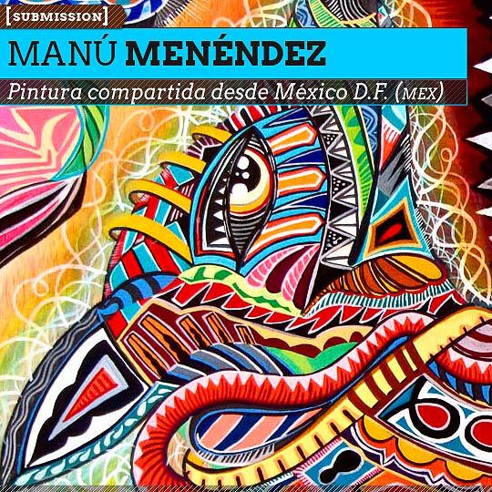 Pintura de MANÚ MENÉNDEZ.
