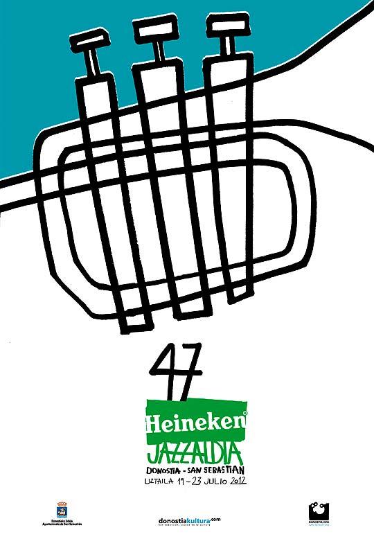 Concurso de Carteles. 48 HEINEKEN JAZZALDIA. Cartel ganador 2012.