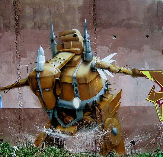 Arte urbano de FAT HEAT