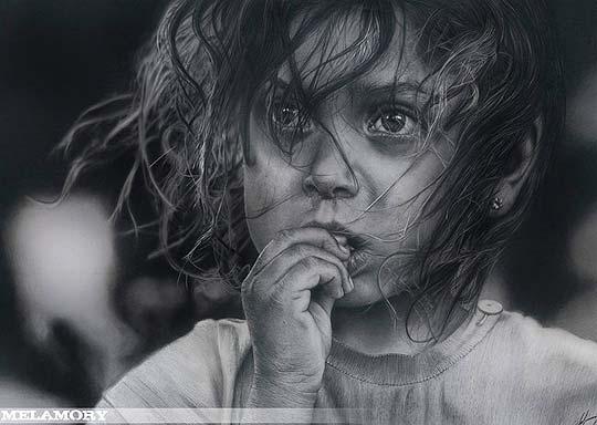 Dibujo de OLGA MELAMORY LARIONOVA