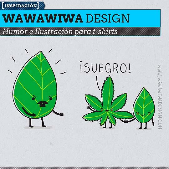 Ilustración para t-shirts de WAWAWIWA DESIGN