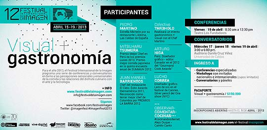 Programación XII Festival de la Imagen de Manizales.
