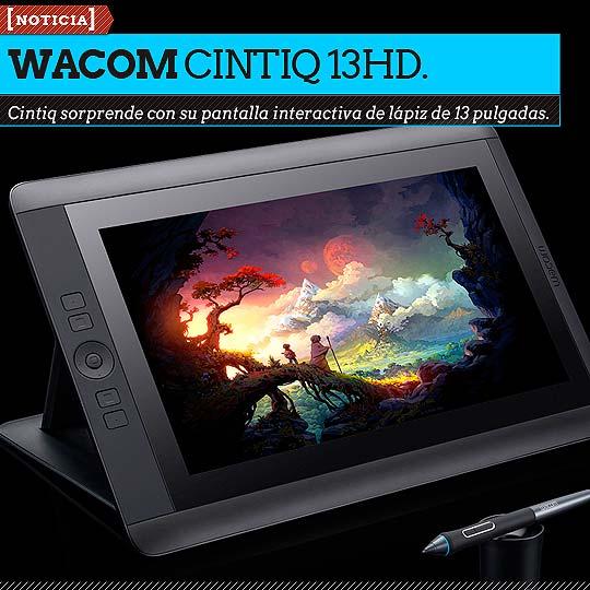 Wacom lanza su nueva pantalla Cintiq de 13 pulgadas.
