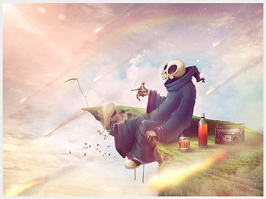 Ilustración de CHARLIE VALDERRAMA aka EL MONO AUTISTA