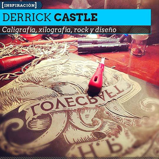 Caligrafía de DERRICK CASTLE.
