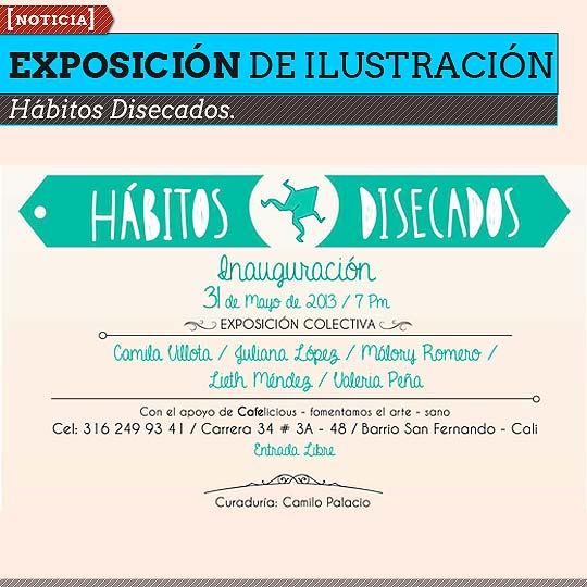 Exposición de Ilustración. Hábitos Disecados.