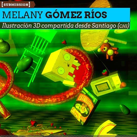 Ilustración 3D de MELANY GÓMEZ RÍOS.