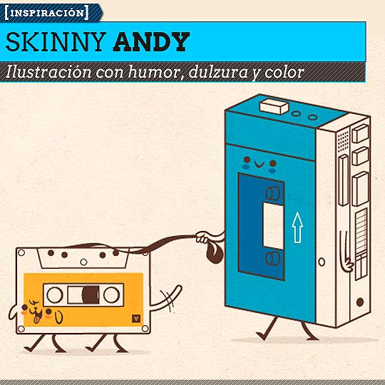 Ilustración de SKINNY ANDY.