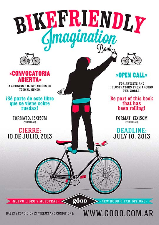 Convocatoria de ilustración. BIKEFRIENDLY IMAGINATION.