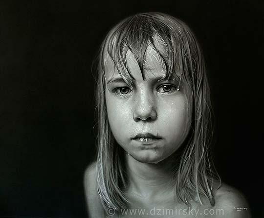 Dibujo y pintura hiperrealista de DIRK DZIMIRSKY.