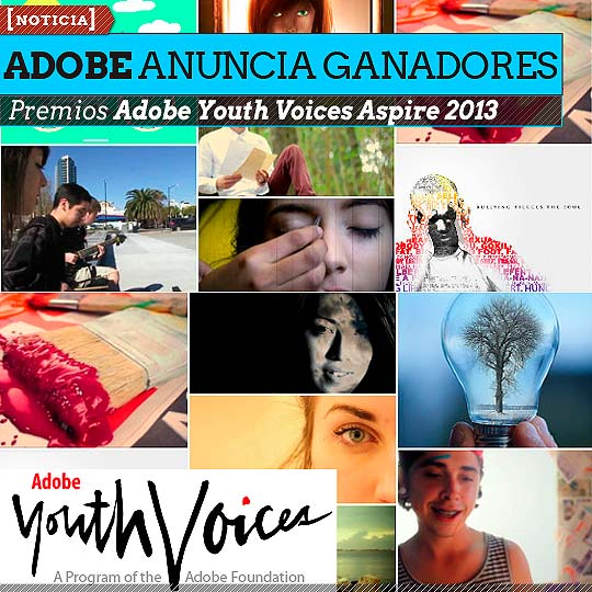 Ganadores Premios Adobe Youth Voices Aspire 2013