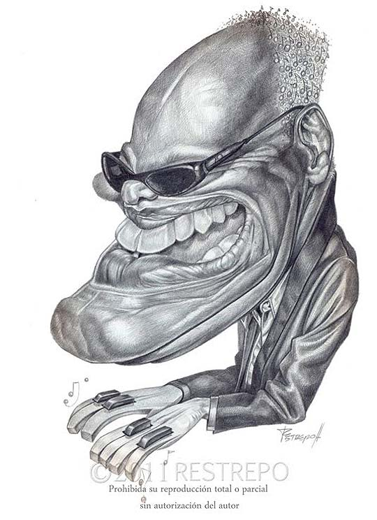 Caricatura, ilustración y técnica de JORGE RESTREPO.