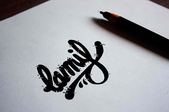 Ilustración y caligrafía de NAIRONE